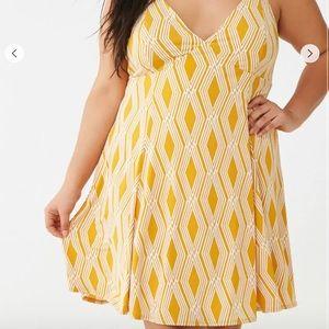 Forever 21 Plus size (3X) yellow geometric dress